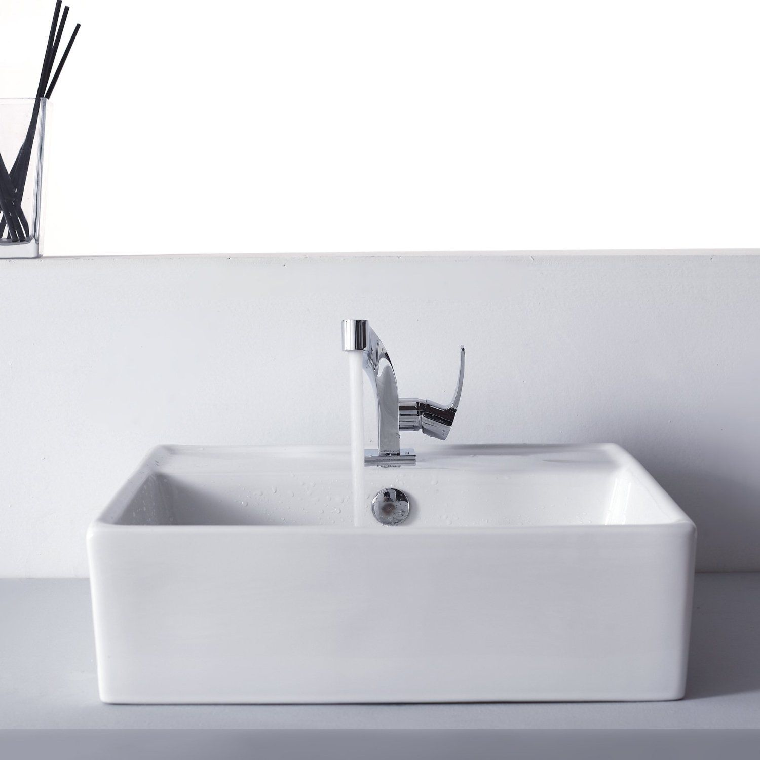 Kraus KEF-15101-PU11CH Typhon Single Lever Basin Bathroom Faucet and ...