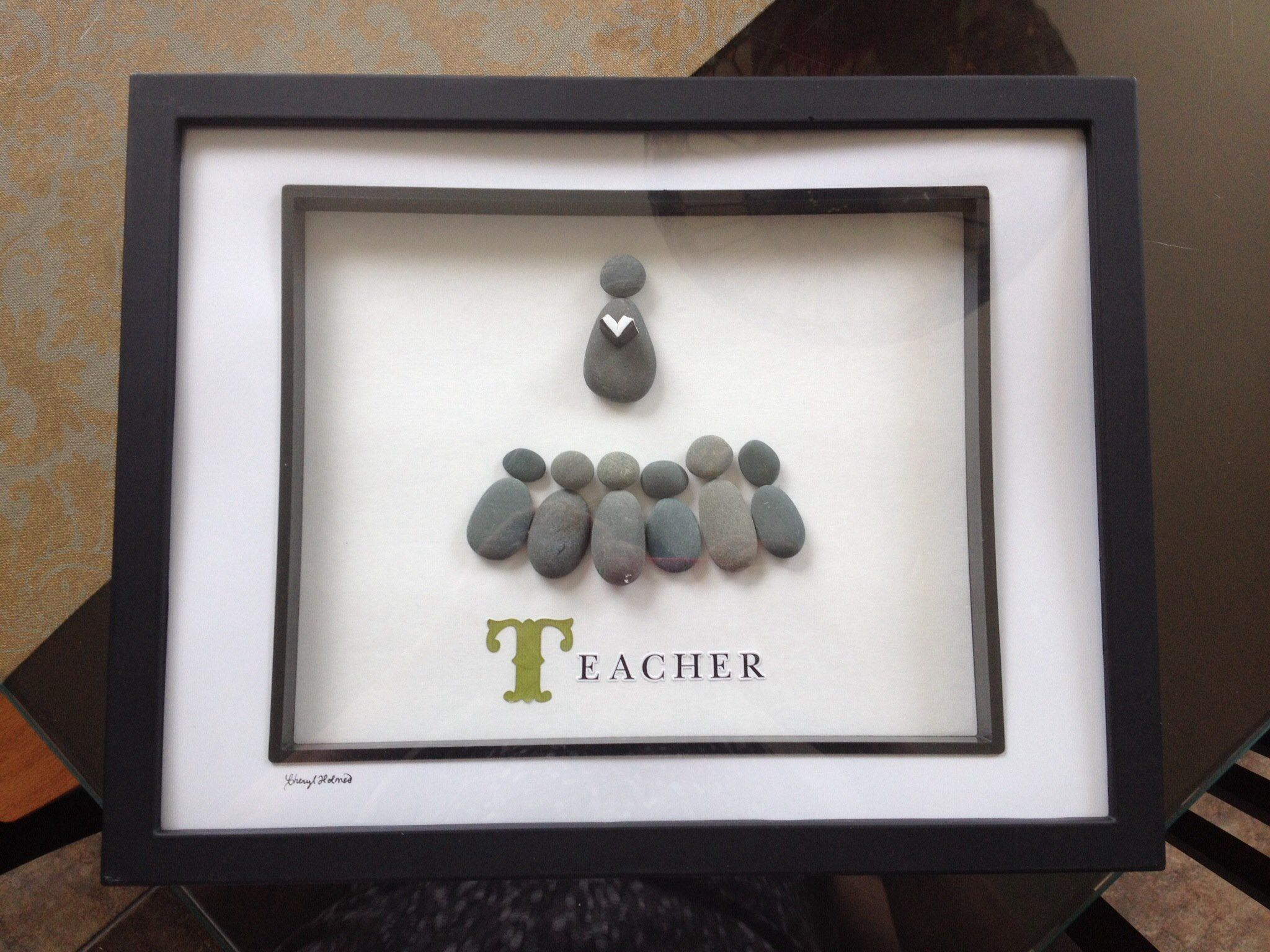 Pebble Art Teacher With Images Driftwood Art Stone Crafts