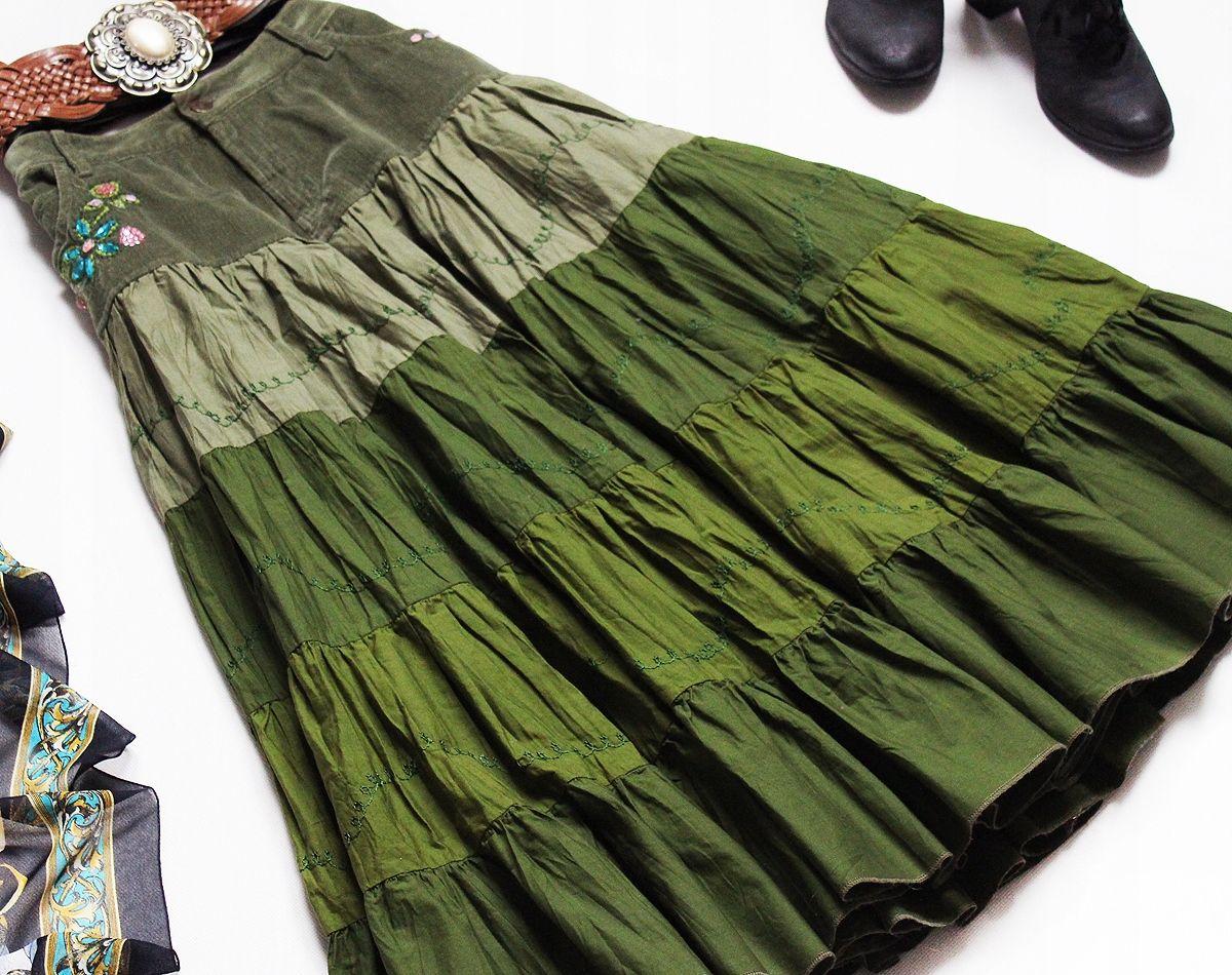 Spencer Rozkloszowana Spodnica Vintage Ziel L 42 7765735679 Oficjalne Archiwum Allegro Moda Boho Hippie Boho Poncho