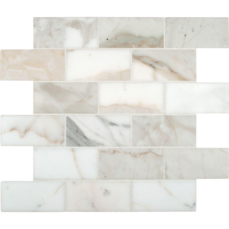 Calacatta Gold 2 X 4 Marble Mosaic Tile Calacatta Gold Marble Calacatta Gold Mosaic Flooring