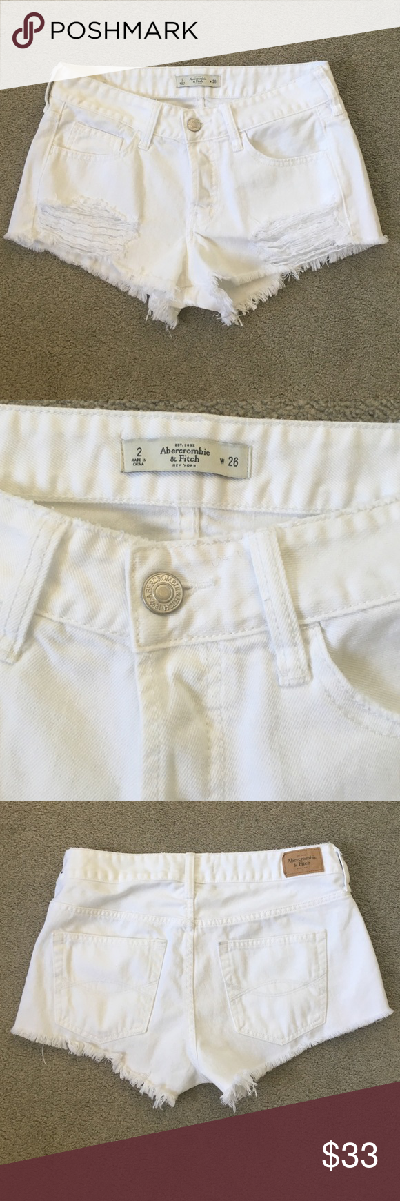 NWOT A&F Hight Waist Short Size 2 NWOT No trade No model Abercrombie & Fitch Shorts Jean Shorts