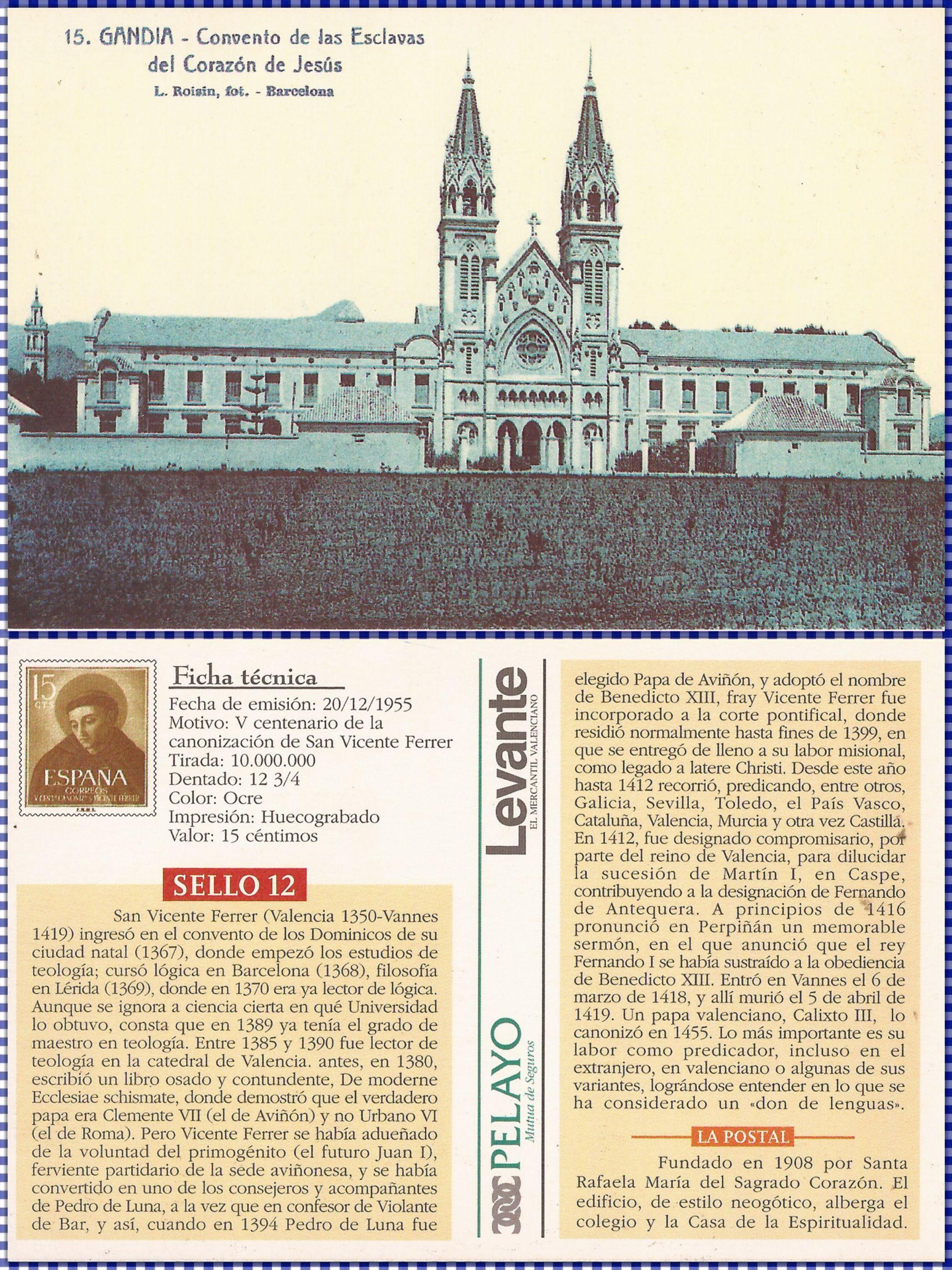 Convento de las esclavas del corazón de Jesus, Gandia 1908