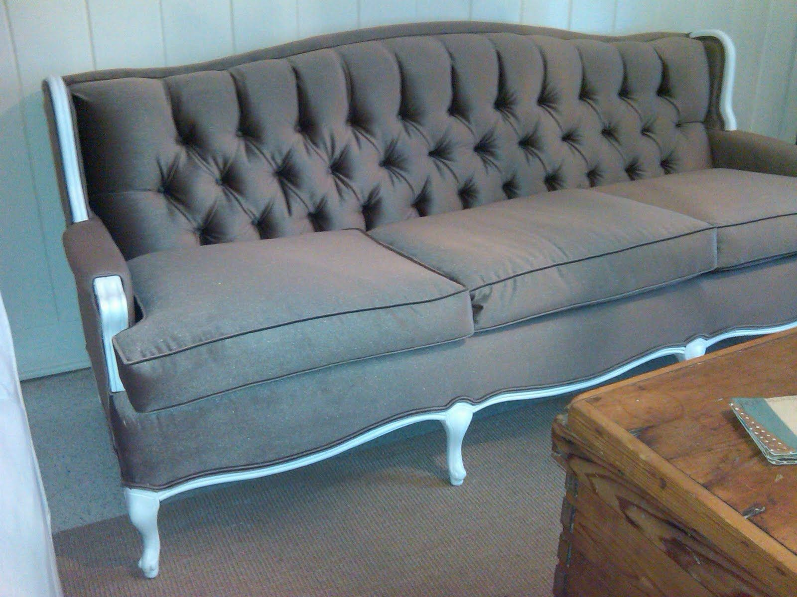 Antique Couch Reupholstered Upholstery