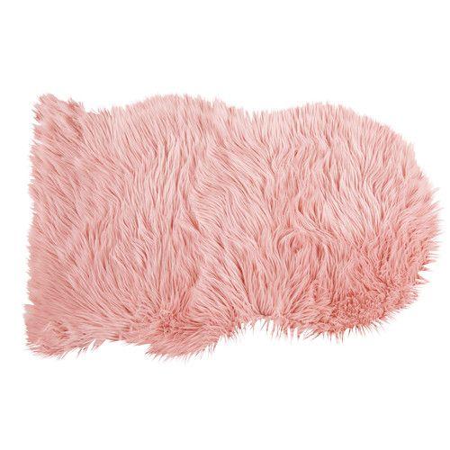 tapis mouton imitation fourrure rose 90x60 chambre. Black Bedroom Furniture Sets. Home Design Ideas
