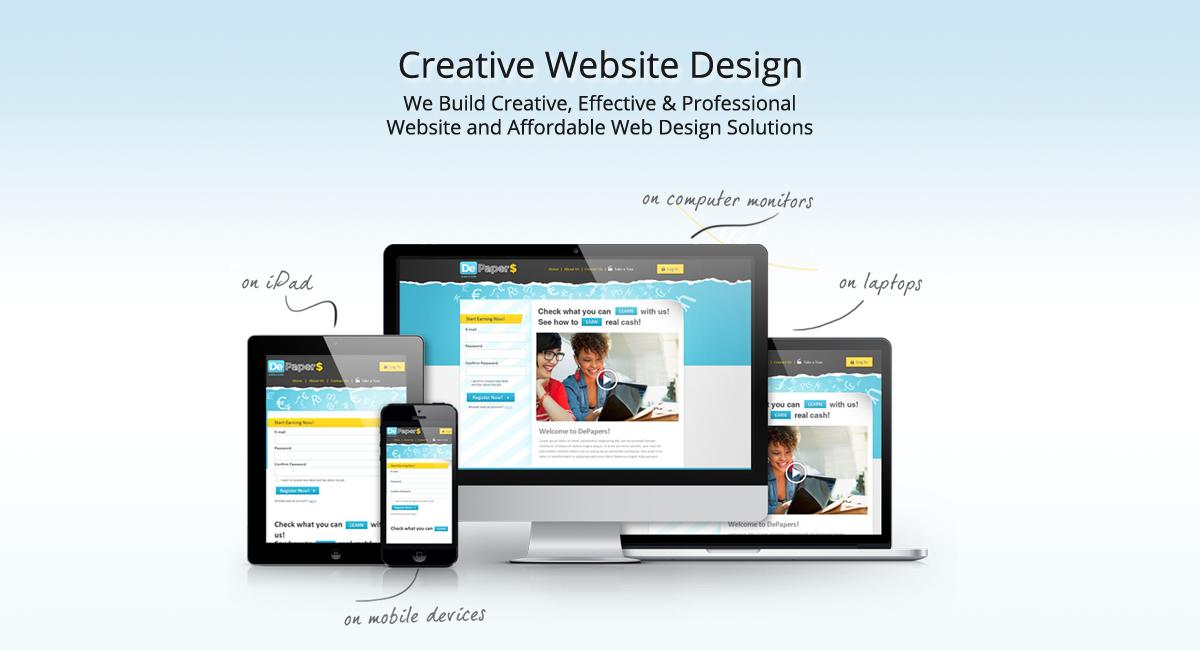 We Build Creative Effective Professional Website And Affordable Web Design Solutions In Delhi Website Design Website Design Company Affordable Web Design