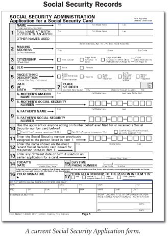 Social Security Records Social security, Genealogy and Layouts - social security application form
