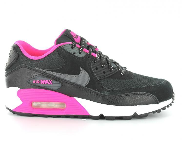 the best attitude 9266b 1f94b Pour Femme Nike Air Max 90 Noir et Rose Gris chaussure088 ...