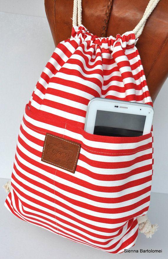 Canvas Seesack zurück zurück Urlaub Rucksack von SiennaBartolomei