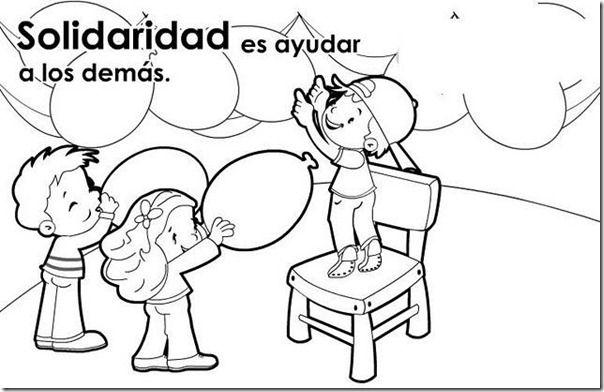 Imagenes De Solidaridad Para Colorear Globos Cartoon Books Preschool Lesson Plan Preschool Lessons