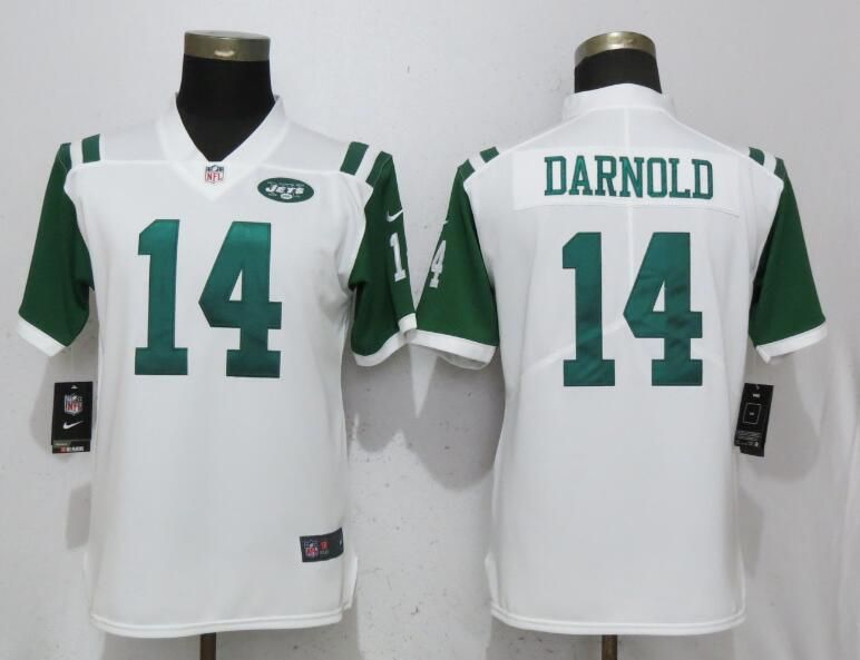 New Women New York Jets 14 Darnold White Nike Vapor Untouchable Limited  for cheap
