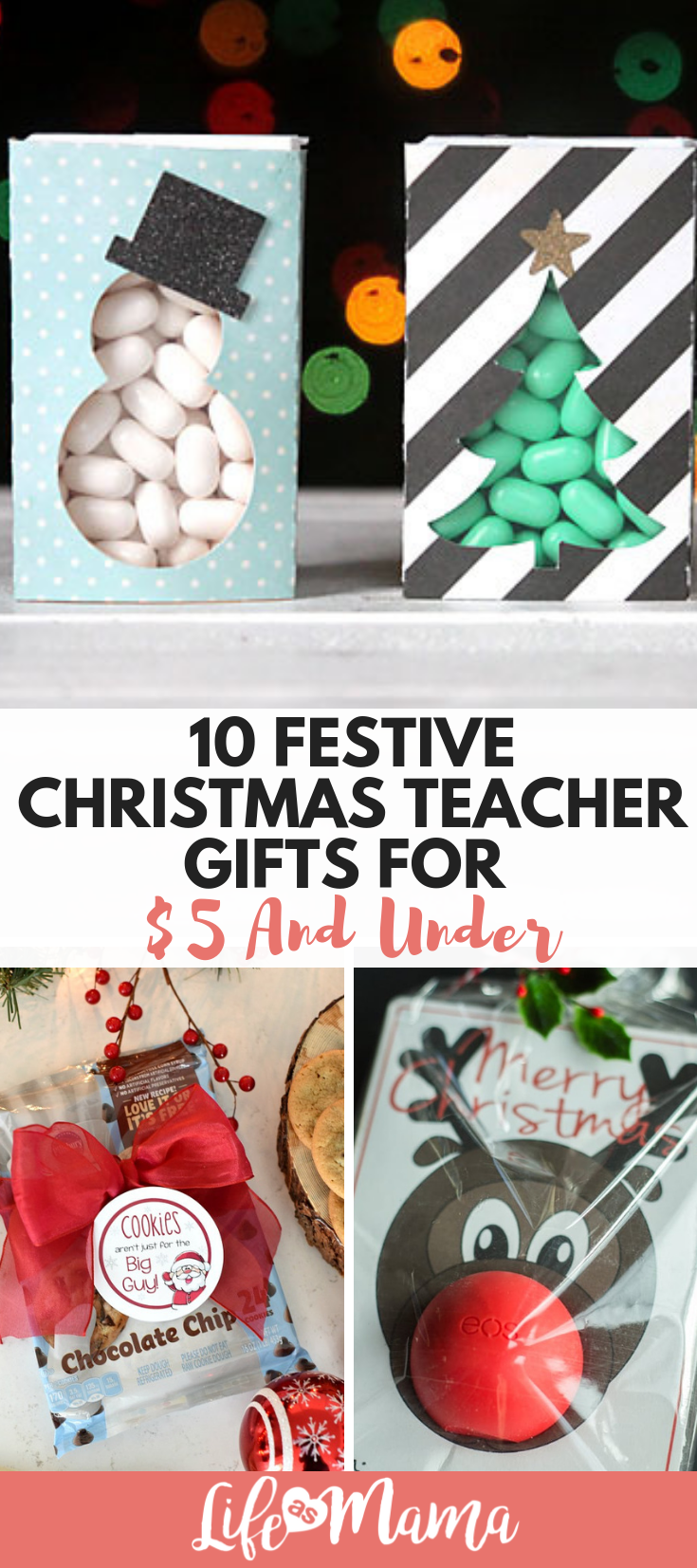 10 Festive Christmas Teacher Gifts For $5 And Under | All About ...