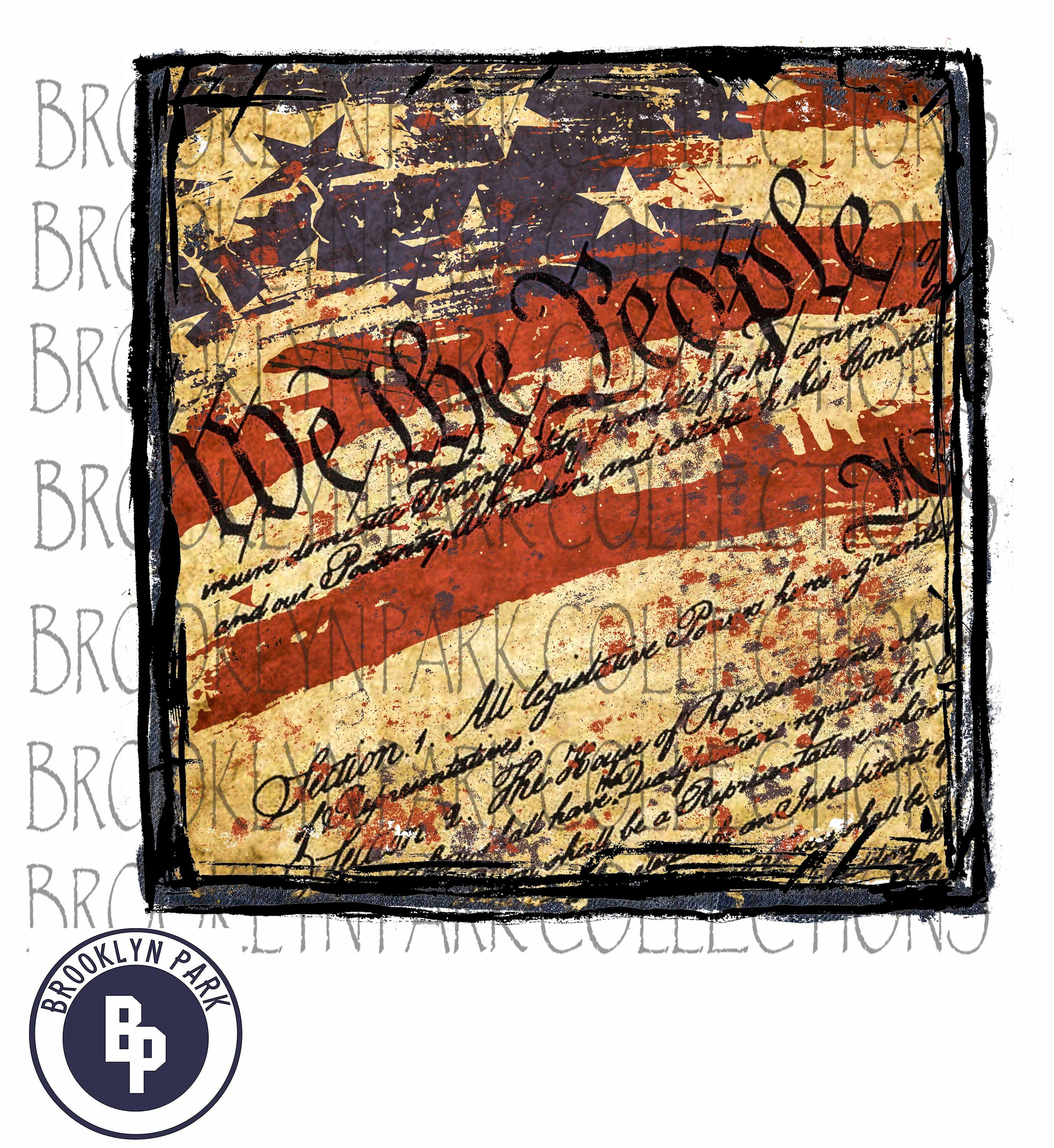 We The People Framed American Flag Constitution Instant Download Wall Art Sublimation Print Pn Framed American Flag Design Gift Shop Instant Download Art