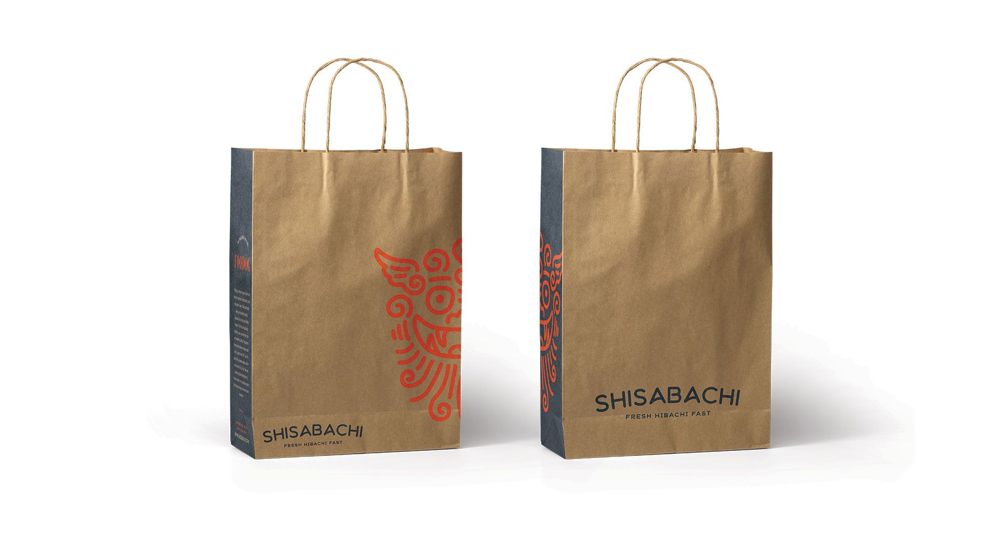ac167f7c5 shisabachi habachi fast casual restaurant branding bag packaging design