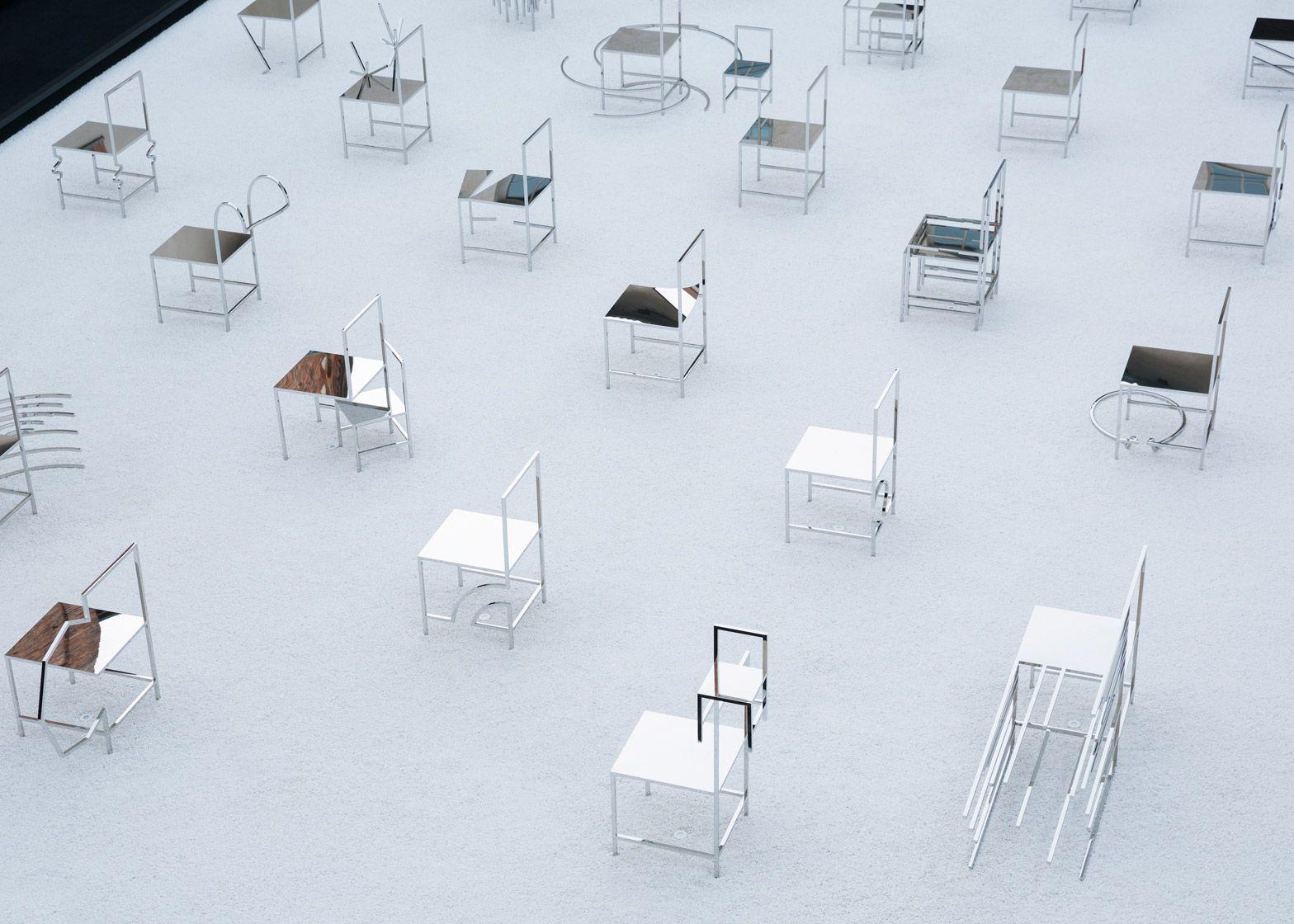 Good Nendo Presents 50 Manga Chairs In Milan Palazzo Courtyard