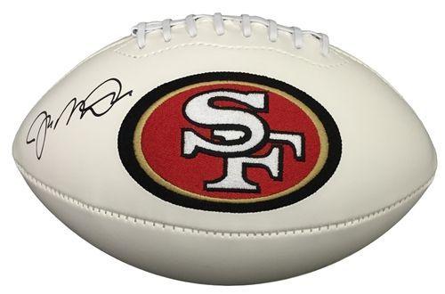 Joe Montana Signed San Francisco 49ers Logo Football JSA