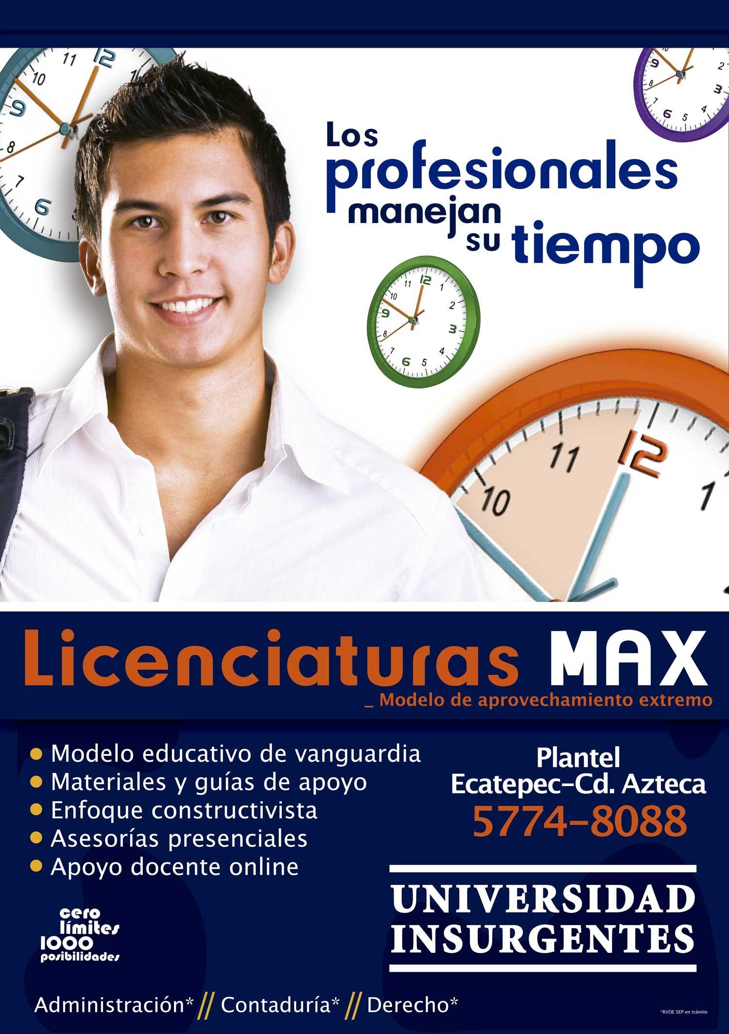 """#ComunidadUIN """"Nuevas licenciaturas #MAX Plantel Ciudad Azteca/Ecatepec."""
