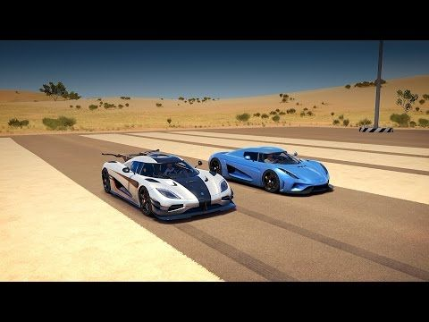 Koenigsegg Regera Vs Koenigsegg One 1 Drag Race Forza Horizon 3