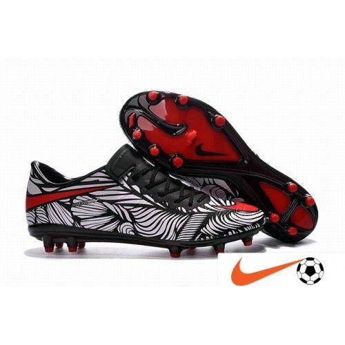 Nike Hypervenom Phinish 2 Neymaer FG Sort/Bright-Crimson/Hvid Fodboldstøvler,billige Nike Hypervenom Fodboldstøvler