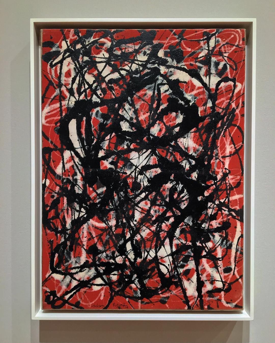 This painting titled free form is very likely jackson for Mural jackson pollock