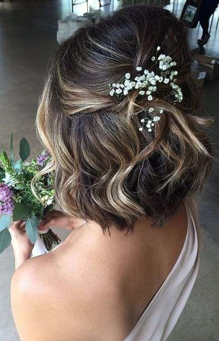 Bridal Hair Half Up Short Beautiful 53 Best Ideas
