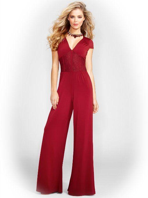 4f32d361f Amazon.com  GUESS Women s Faux Corset Jumpsuit  Clothing