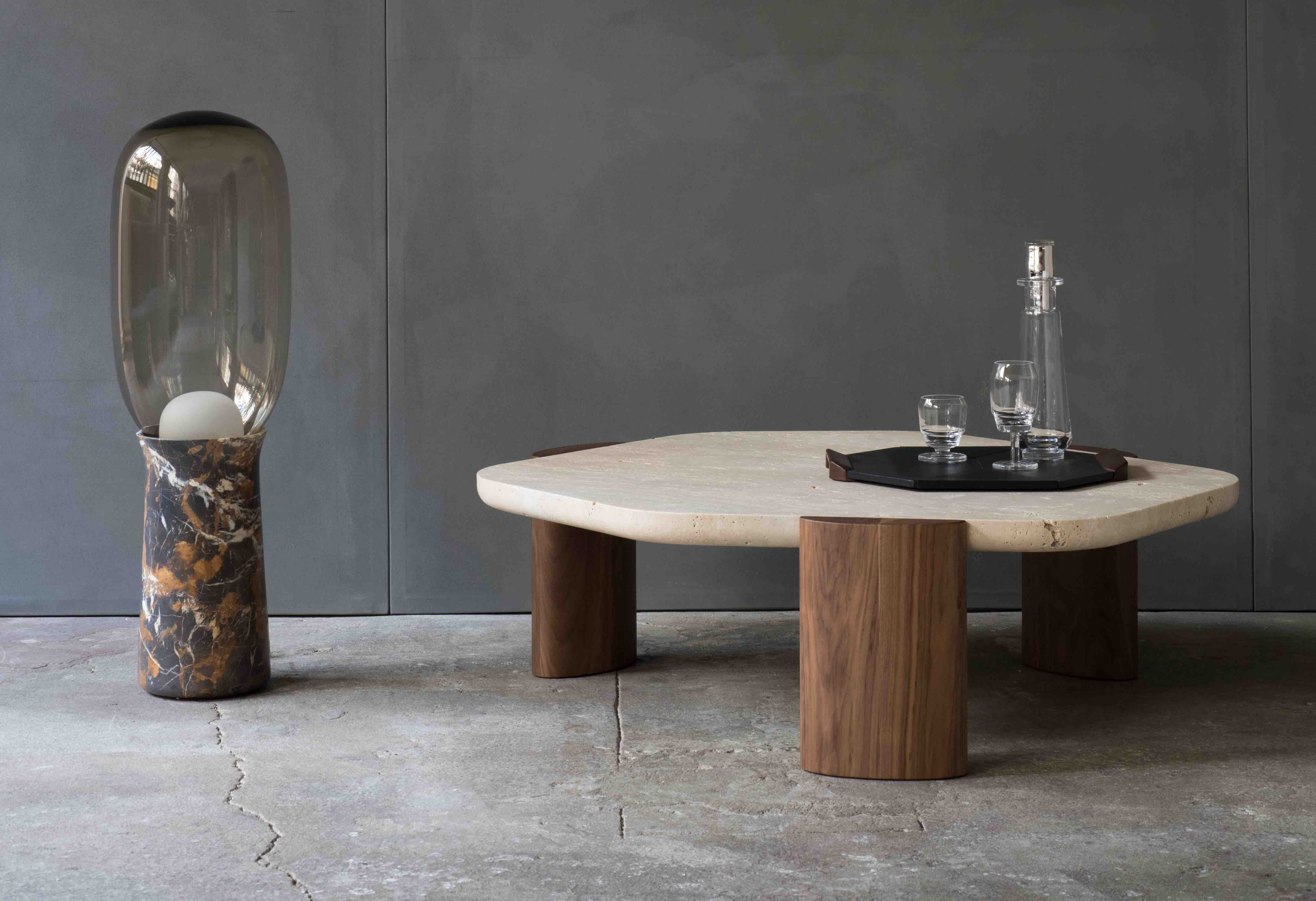 Lob Low Table Coffee Table Travertine Walnut Made In France Customizable Bespoke Furniture Christophe Low Tables Solid Coffee Table Perfect Coffee Table [ 3328 x 4860 Pixel ]