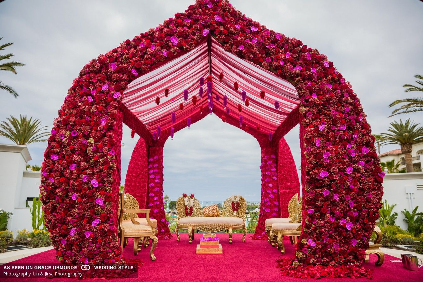 indian wedding deep colors monarch beach resort california