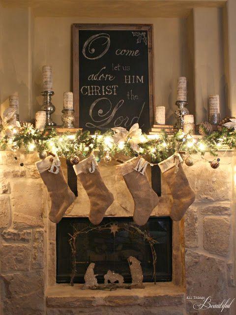 Christmas Home TourChristmas 2017 Pinterest Holidays, Mantle - christmas fireplace decor