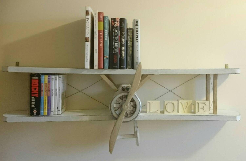 Bookshelf di aeroplano Sopwith camel di nikniksniknaksltd su Etsy