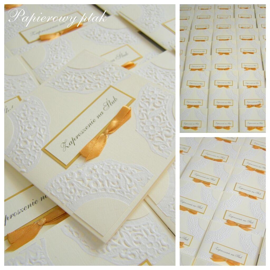 Ręcznie Robione Zaproszenia ślubne Wwwfacebookcompapierowyptak