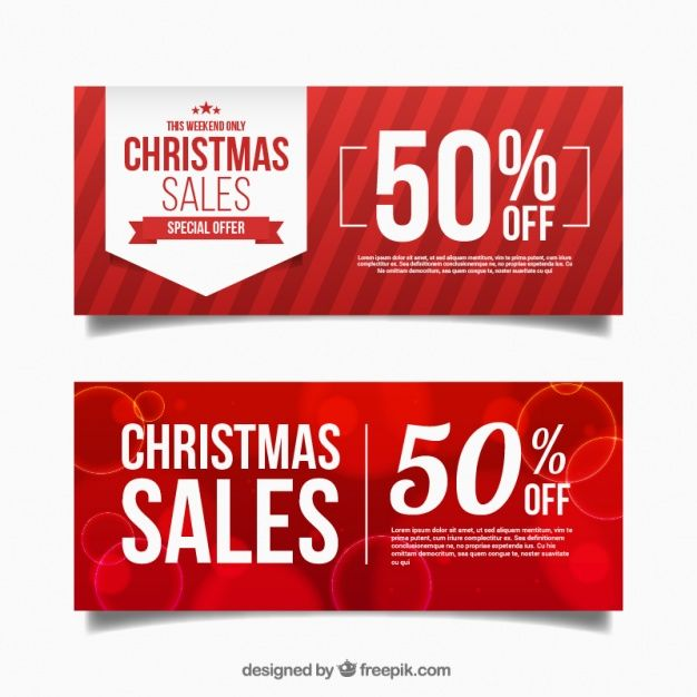 abstract red discount christmas banners free vector christmas 2017