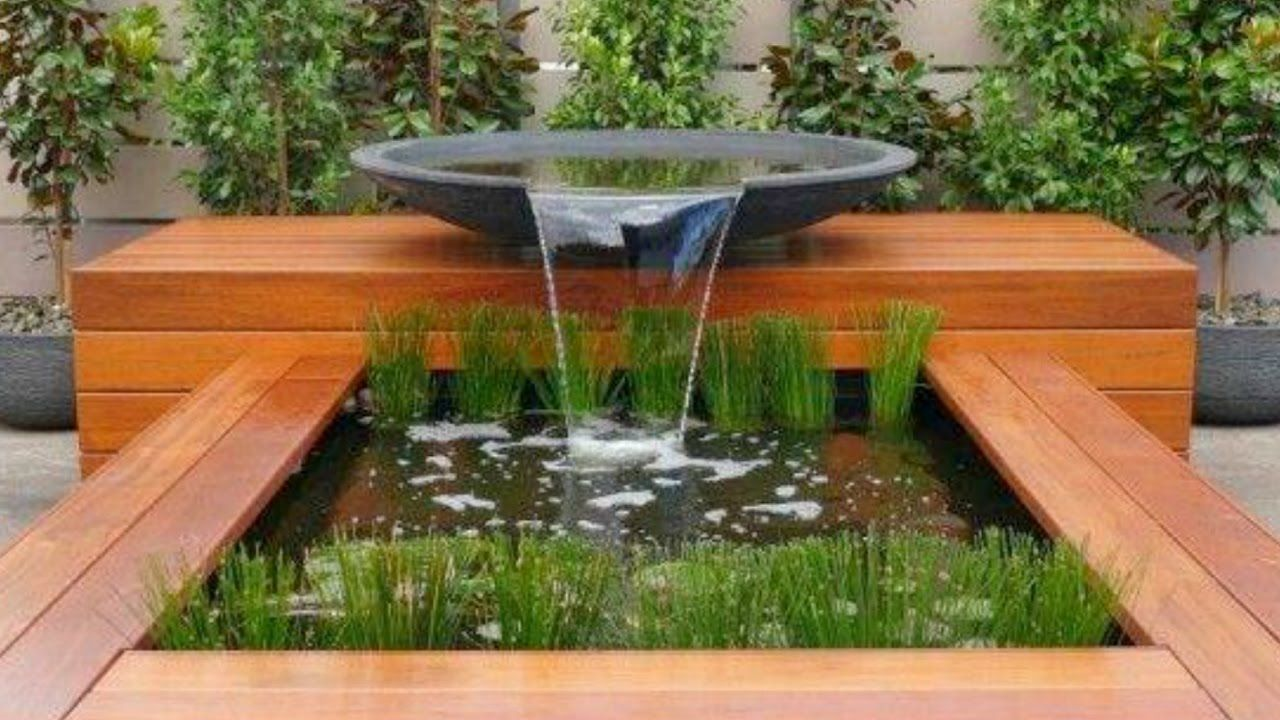 Pin by Rob Jagnow on Water feature | Water features in the ... on Modern Backyard Water Feature id=17701