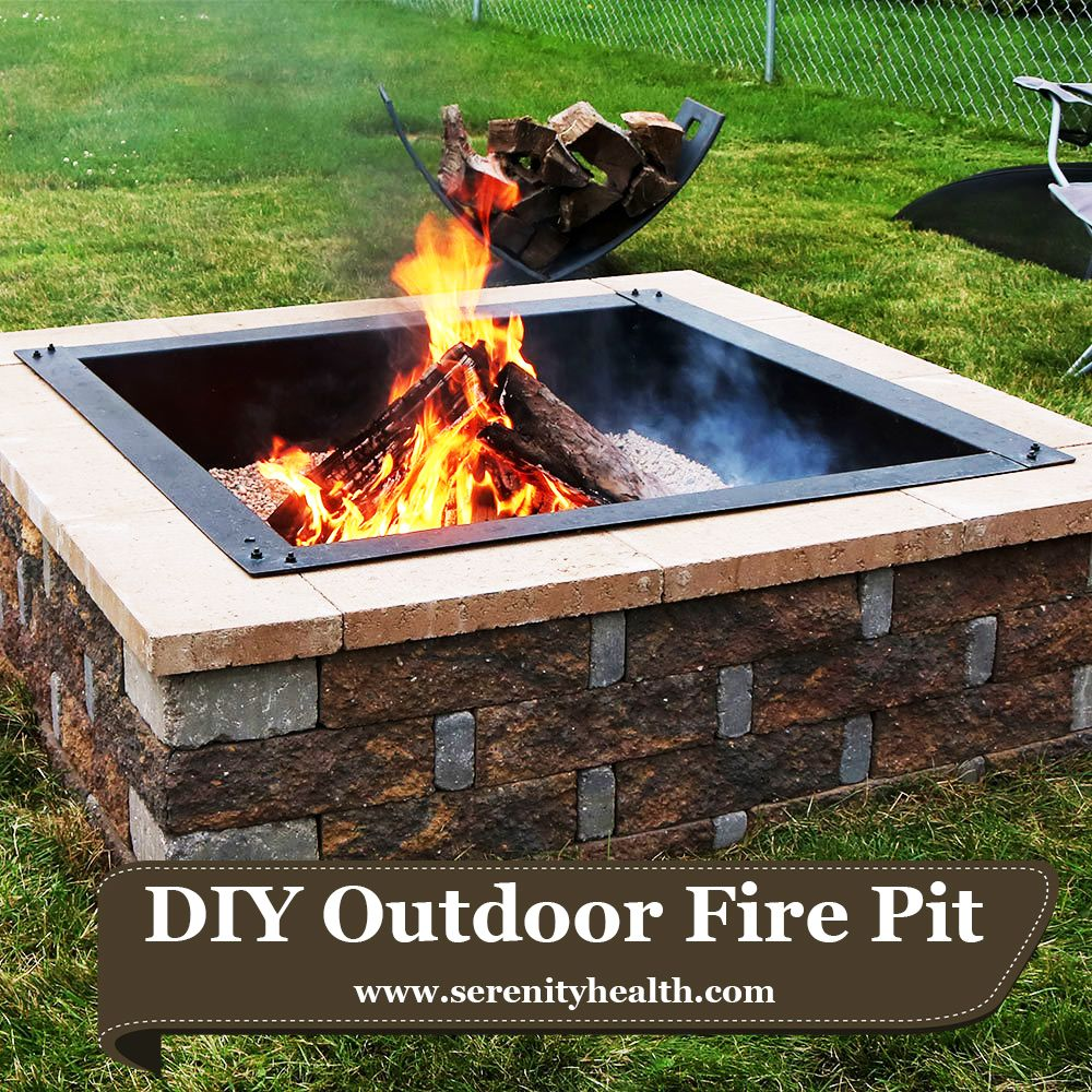 Sunnydaze Square Heavy Duty Fire Pit Rim Liner Diy Fire Pit Above Or In Ground Steel Fire Pit Accessories In Ground Fire Pit Square Fire Pit