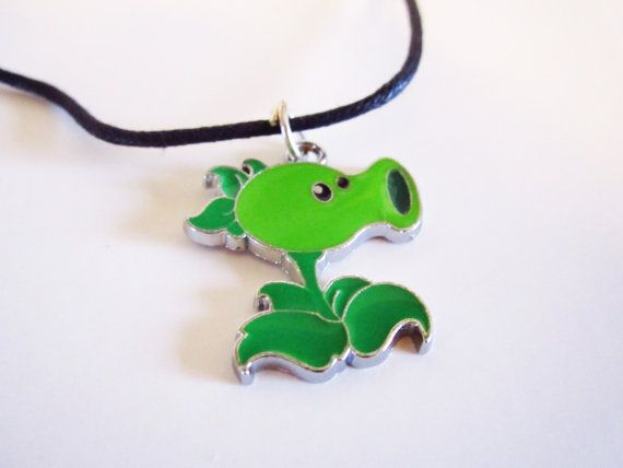 Pea Shooter Necklace  Plants Vs Zombies  by LittleChickiesCrafts, $14.99