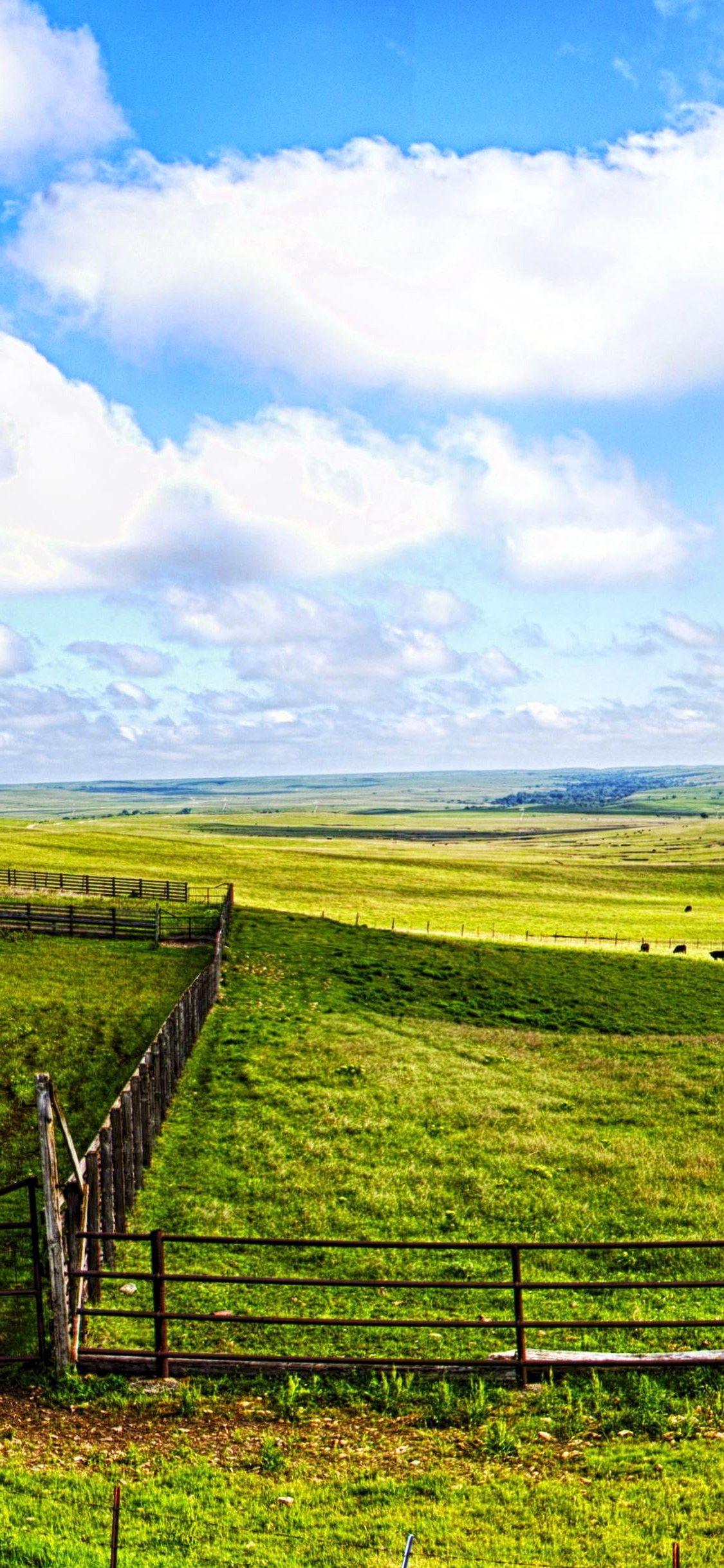 flint hills panorama green grass grass field wallpaper