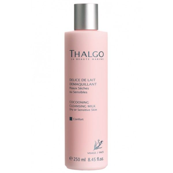 Thalgo Cocooning Cleaning Milk is perfect for those who need to cleanse their dry or sensitive skin. This rich and creamy milk is a pure delight for the skin. It gently removes the impurities that suffocate it.