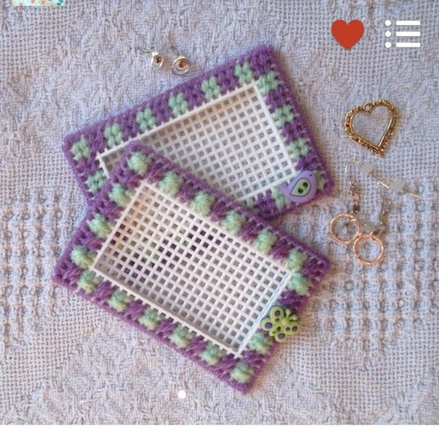 Plastic Canvas Pattern: colorful Buttons Napkin Holder | Ets…