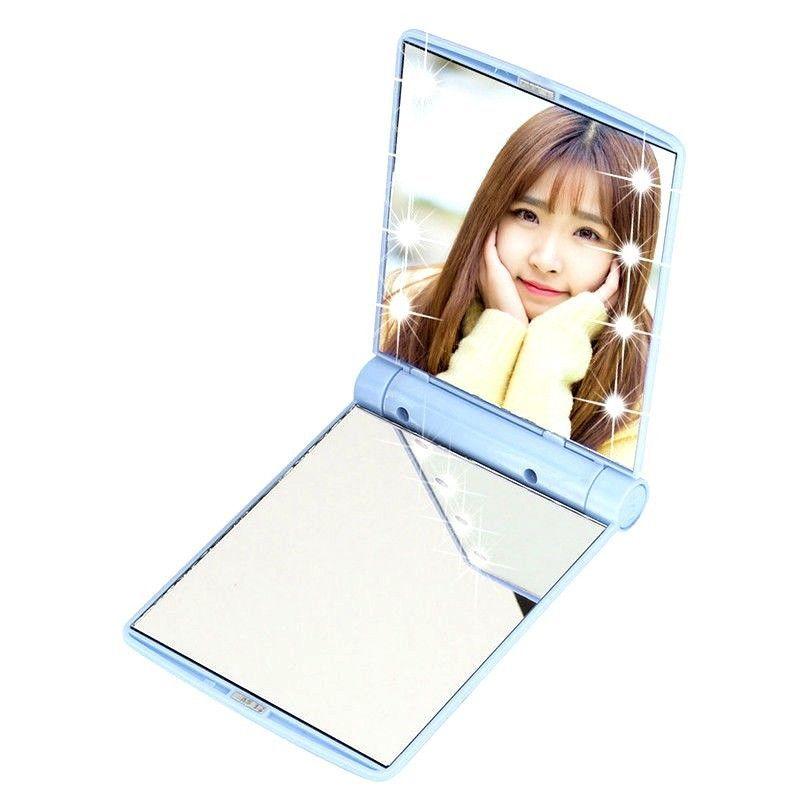 Details about Xmas Mini Makeup Pocket Vanity Mirror 8 LED Portable Cosmetics Folding Handbag – Jaddi