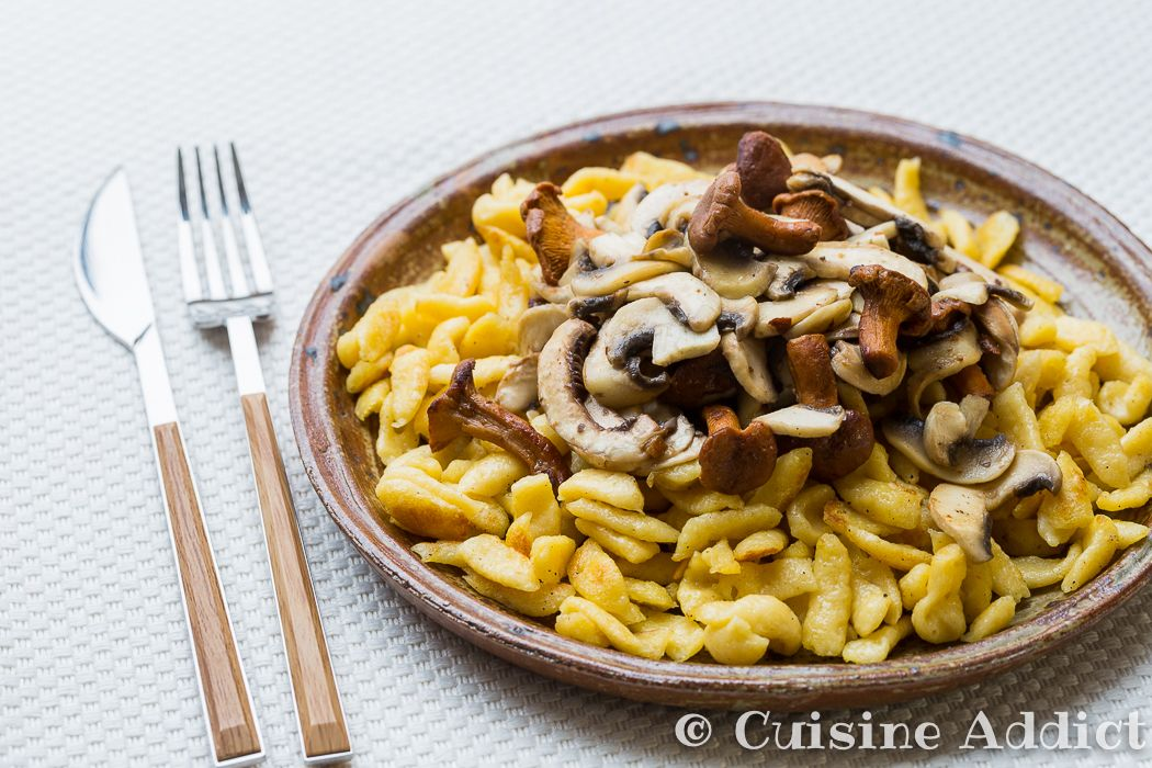 Spaetzle aux Champignons via @cuisineaddict