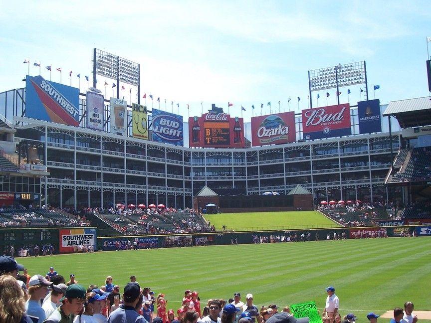 TEXAS RANGERS, ARLINGTON TX Sports stadium, Ballparks