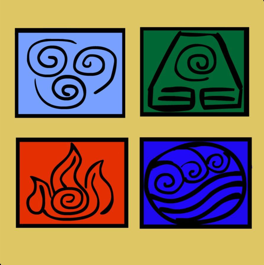 Avatar 4 Nations Symbols By Kspatula On Deviantart Just Plain