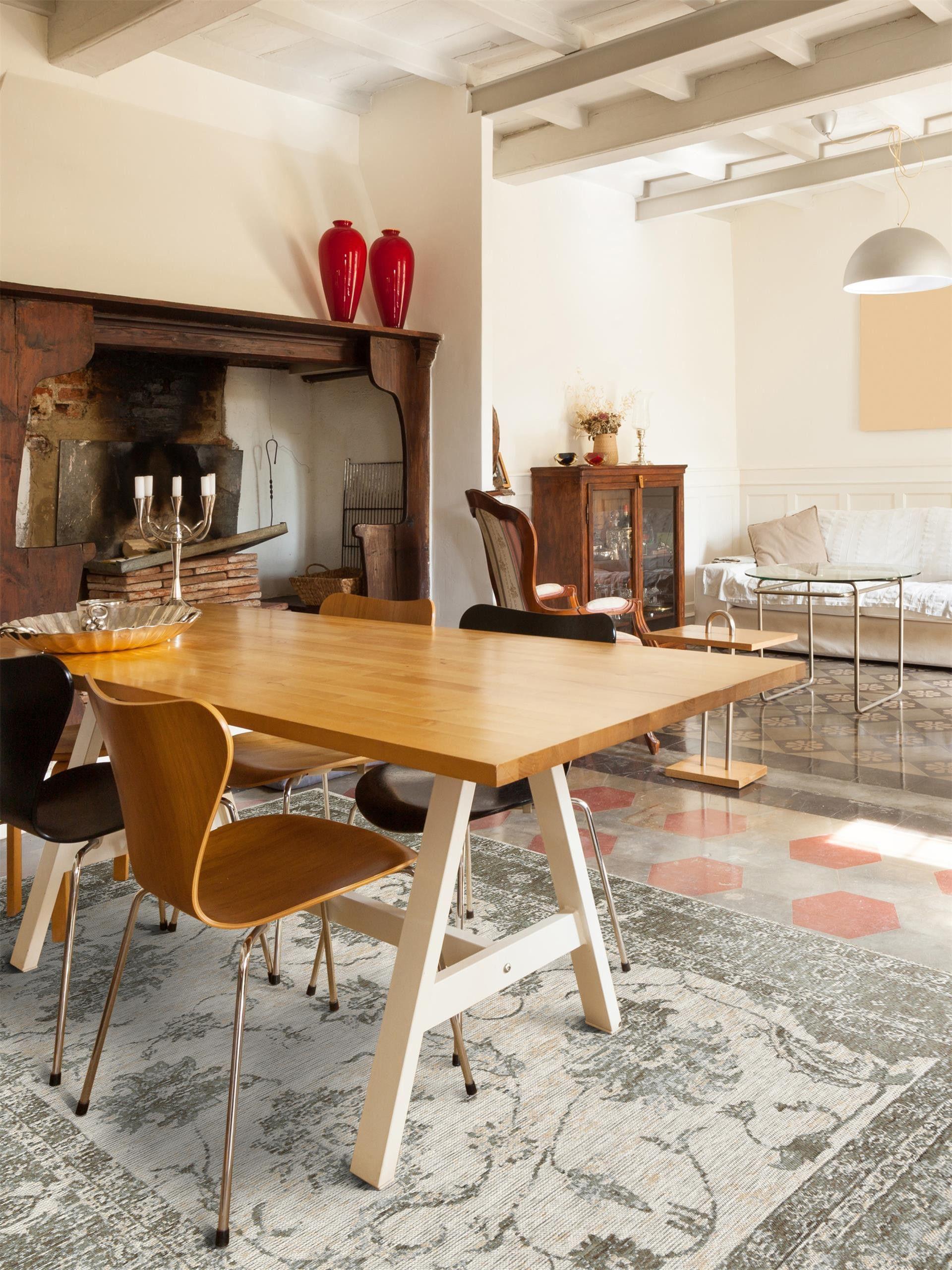 wundersch ne landhaus deko benuta teppich vintage rigina flora benuta teppich landhaus. Black Bedroom Furniture Sets. Home Design Ideas