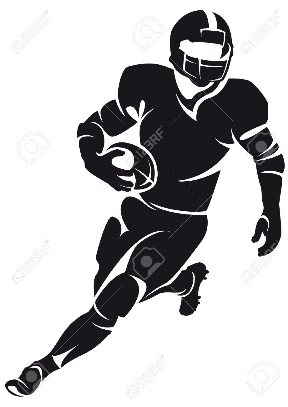 American Football Player Silhouette Football Illustration American Football Players Football Silhouette