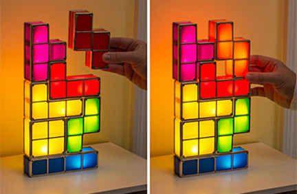 Sculptural Tetris Lamp Led Desk Lamp Led Diy Lamp