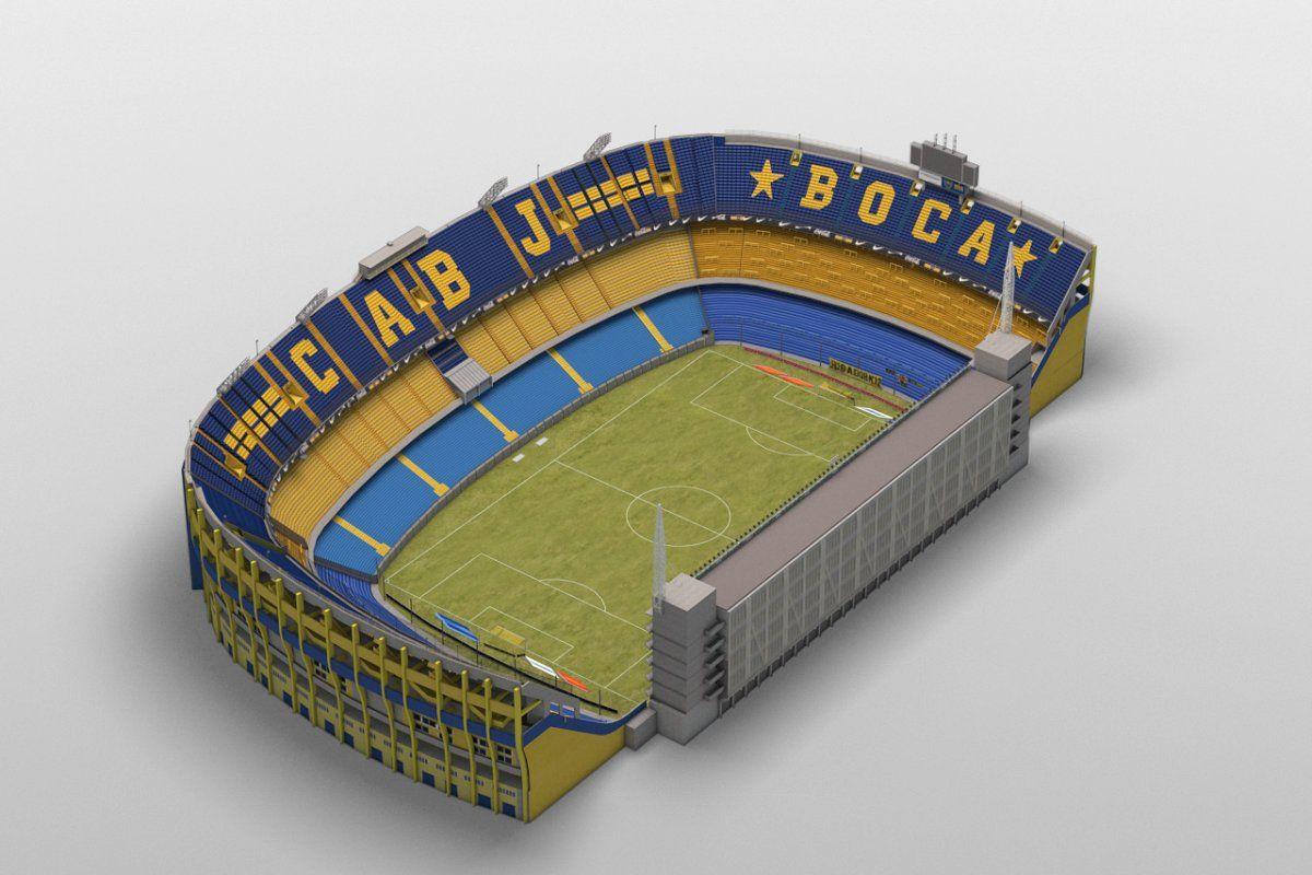 Low-poly Boca Juniors Stadium in 2020 | Boca juniors, Stadium, Soccer  stadium