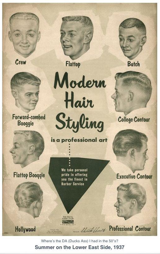 Men\'s Hair Style Guide 1937, Vintage Illustration. Hair ...