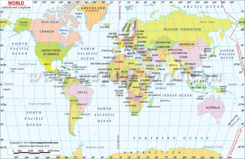 Lat And Long World Map World Map with Latitude and Longitude  buy, get from AAA and have