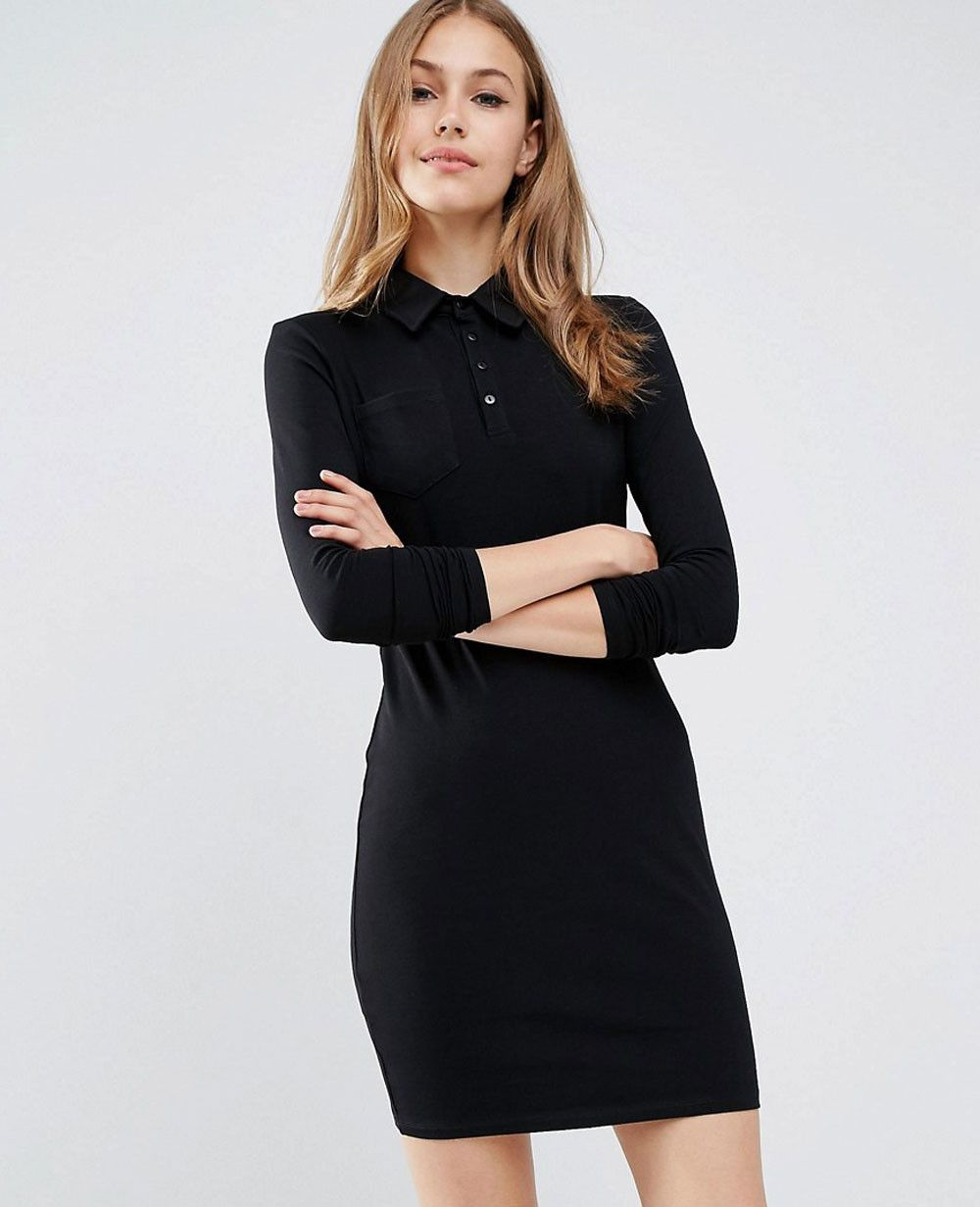 76c3becb201 Long Sleeve Shirt Dress Shopstyle