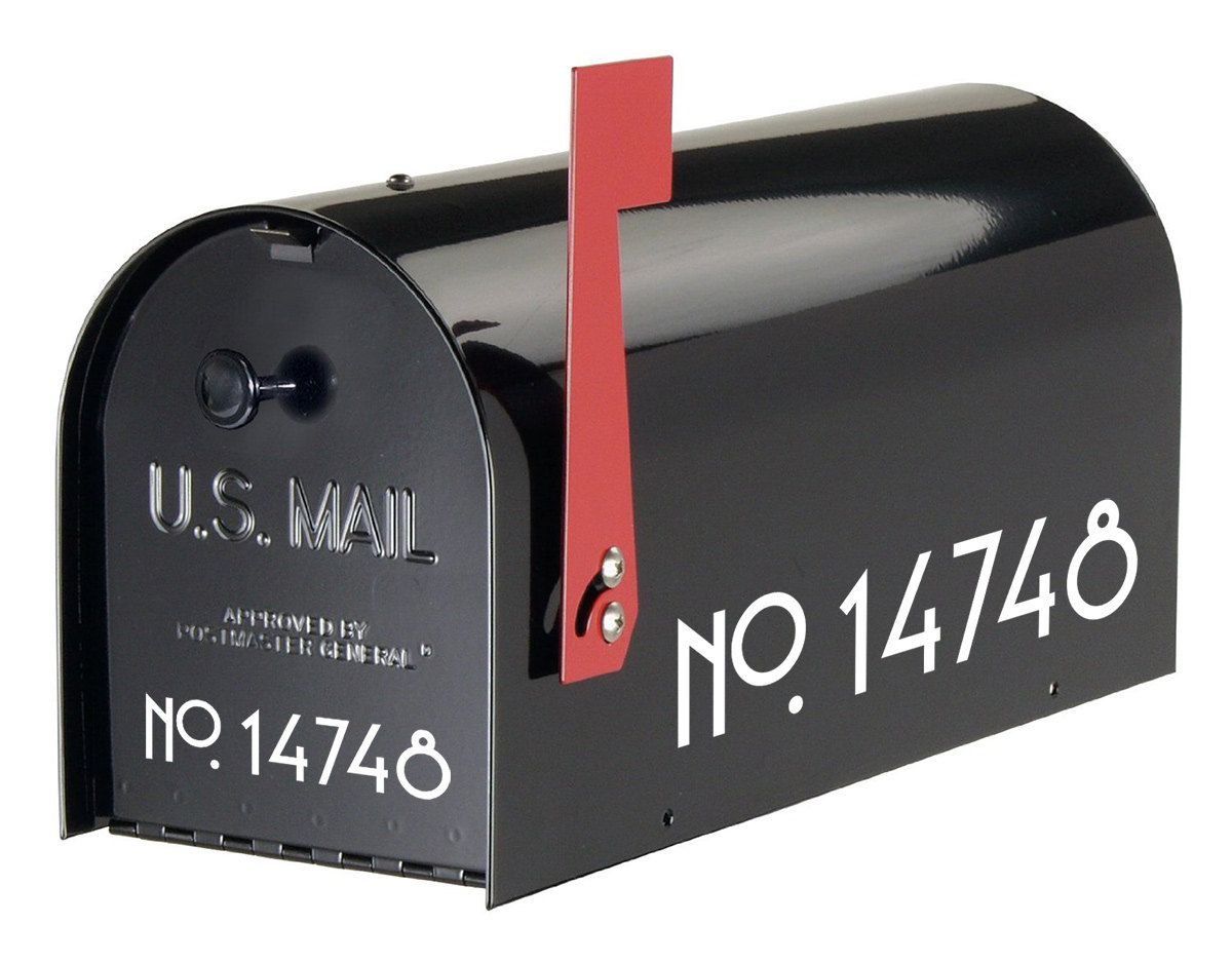 Craftsman Mailbox Numbers Vinyl House Numbers Mailbox Decals Mailbox Stickers Curb Appeal Address Numbers Free Shipping Number Stickers Mailbox Numbers Craftsman Mailboxes Mailbox Decals