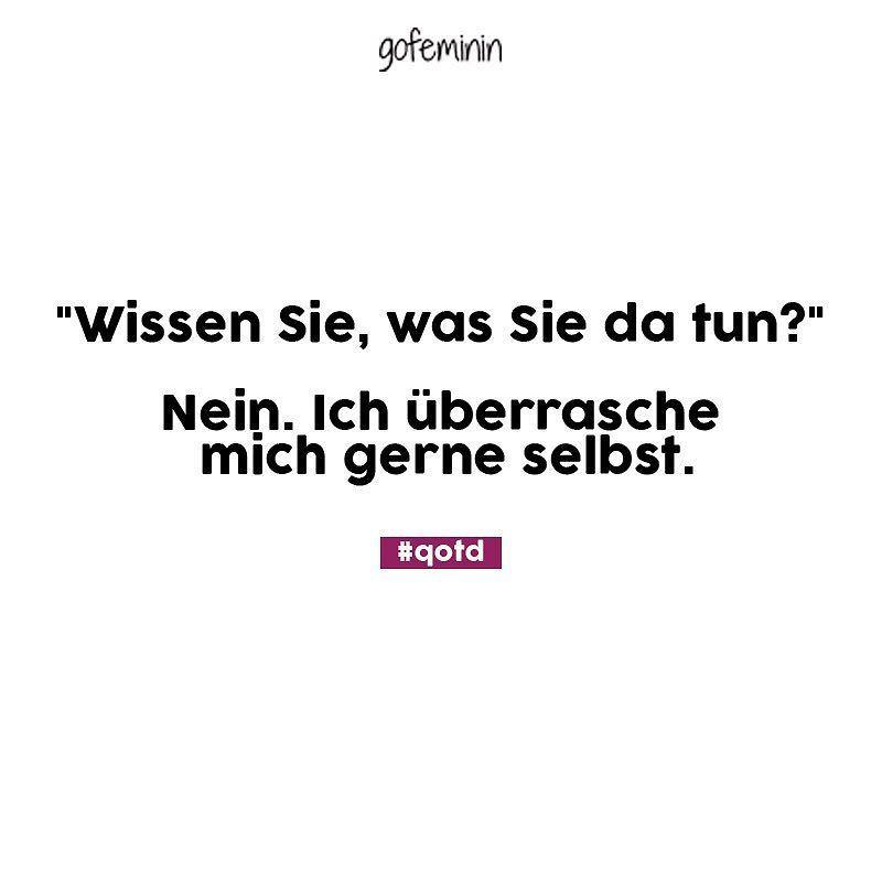 Eine kleine Überraschung schadet nie #gofeminin #spruch #funny